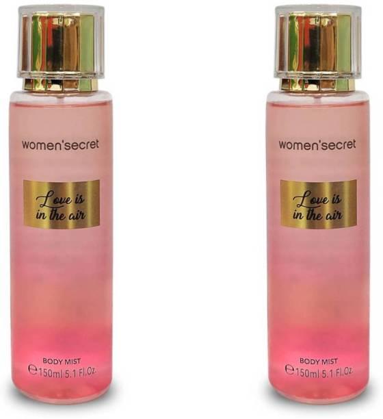 Women'Secret Love In The Air Body Mist Pack of 2 Body Mist  -  For Women