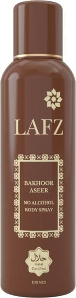 LAFZ Bakhoor Aseer No Alcohol Deodorant Spray  -  For Men