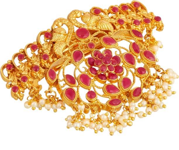 APARA Traditional Hair Accessories Hair Clip Pearl Drop Jewellery For Women / Girls Hair Chain