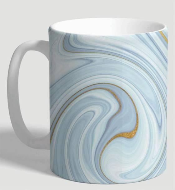 Flipkart SmartBuy Sky Blue Marble Ceramic Coffee Mug