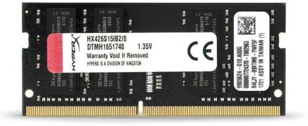 KINGSTON DDR4 2666 Mhz LAPTOP RAM DDR4 8 GB (Dual Channel) Mac, Laptop (HX426S15IB2/ 8 PC4-21300)