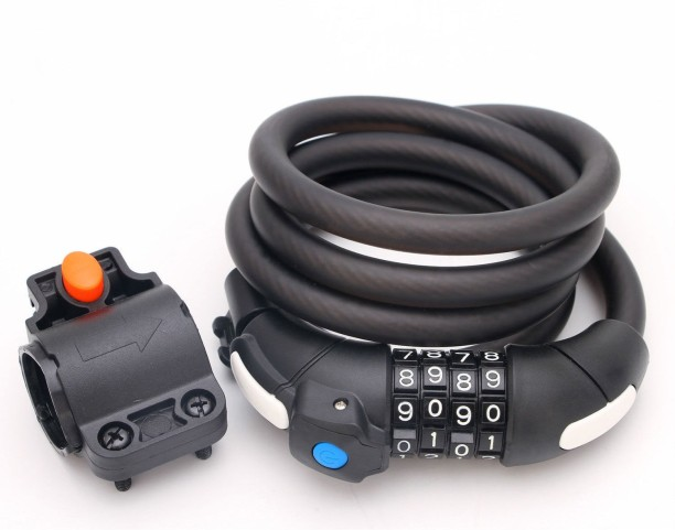 Strong Cable Bicycle Lock /& Helmet Lock for Cycles and Bikes Number Combinations