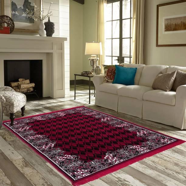 Zesture Maroon Chenille Carpet