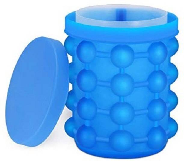 Modone Magic Silicone Ice Cube Maker (ITN-728-118) Blue  - 1 L Silicone Fridge Container