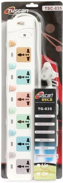 TUSCan High Power 6 Switch 10 A Three Pin Socket