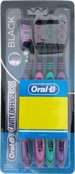 Oral-B Cavity Defense 123 Black Soft Toothbrush