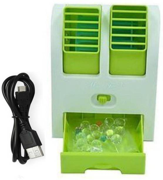 Blue Birds Mini cooling Fan, Mini Air Cooler Personal cooler0009 USB Fan, Rechargeable Fan