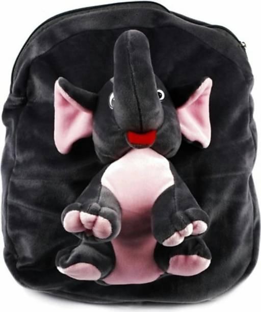 3G Collections Elephant Full Teddy Bear Soft Toy Kids Plush Bag/ School Bag Waterproof School Bag