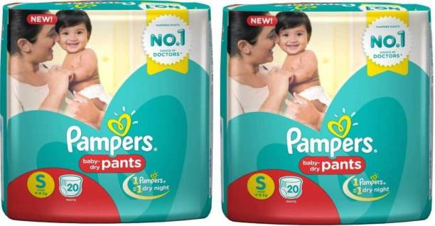 Pampers baby pants S 20+20 Pants Diapers - S (2 Pieces) - S