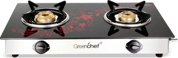 Greenchef Crystal Plus Glass Top Glass Manual Gas Stove