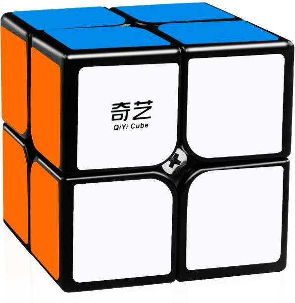 D ETERNAL Cube Qiyi Qidi 2x2 High Speed Magic Puzzle Cube,Black