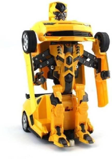 Kiyara Collection Robot Transformer Converting Car for Kids
