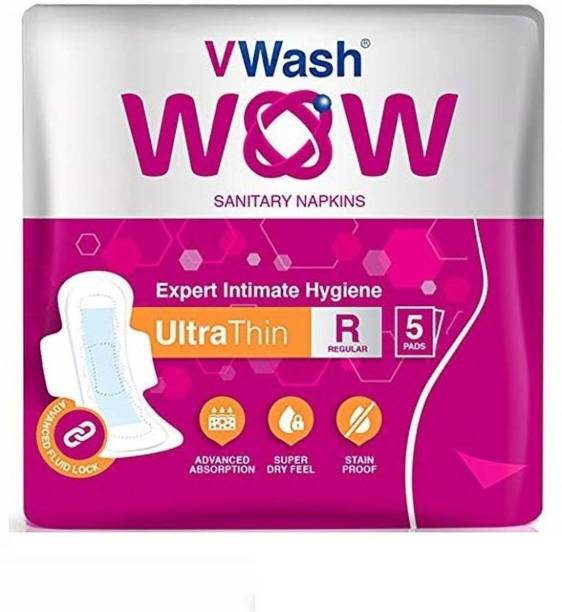 V Wash Wow Ultra Thin Regular 5 Sanitary Pad Sanitary Pad