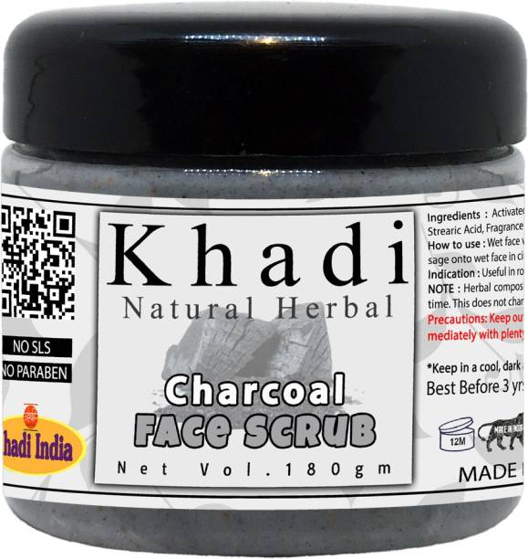 khadi natural herbal Charcoal Face Scrub 180gm Scrub