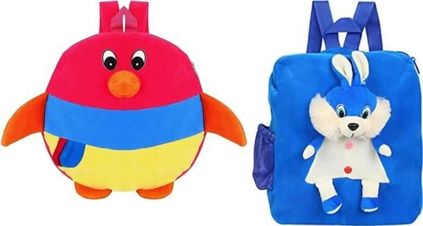 3G Collections Penguin & Rabbit Combo Waterproof School Bag