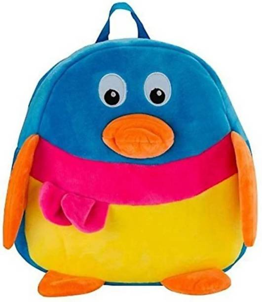 3G Collections Penguin Soft Toy Bag, Plush Bag, Teddy Bag School Bag