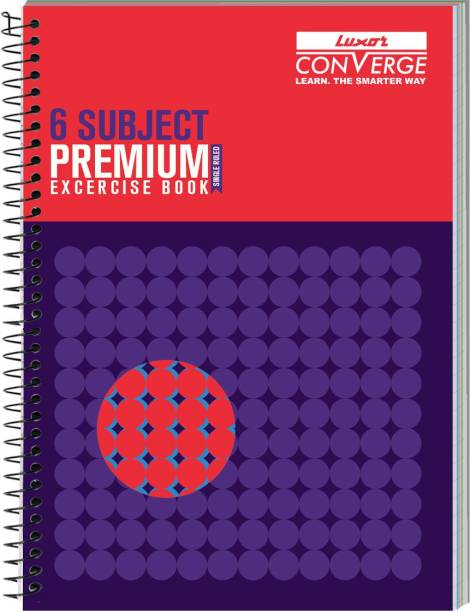 LUXOR Exercise Notebook-Focus A4 Notebook Ruled 300 Pages