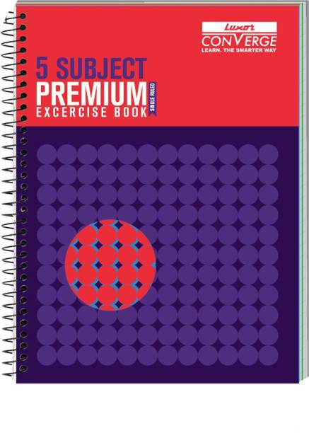 LUXOR Exercise Notebook-Focus B5 Notebook Ruled 250 Pages