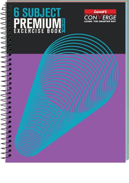 LUXOR Exercise Notebook-Spiral B5 Notebook Ruled 300 Pages