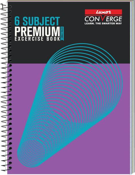 LUXOR Exercise Notebook-Spiral A4 Notebook Ruled 300 Pages