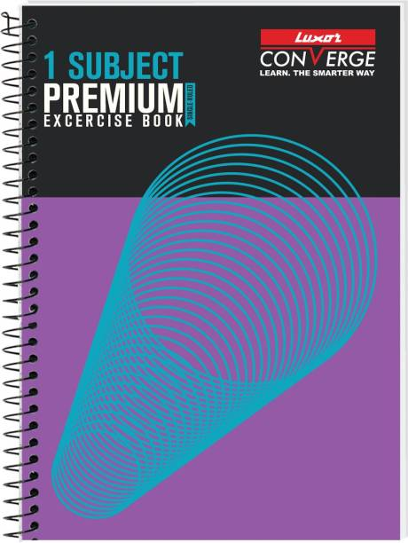 LUXOR Exercise Notebook-Spiral A4 Notebook Ruled 160 Pages
