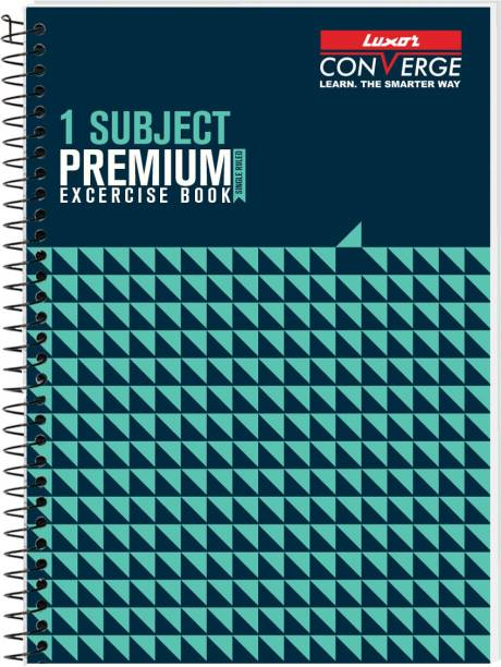 LUXOR Exercise Notebook-Seamless A4 Notebook Ruled 160 Pages