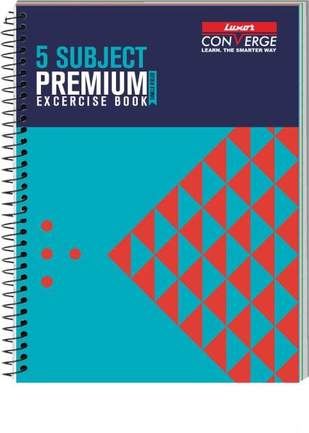 LUXOR Exercise Notebook-pyramid B5 Notebook Ruled 250 Pages