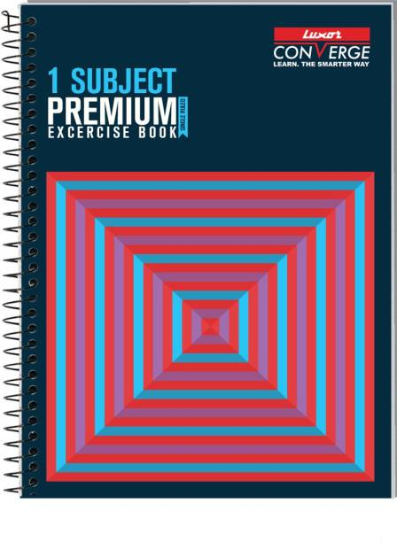 LUXOR Exercise Notebook-Cubes A4 Notebook Ruled 160 Pages