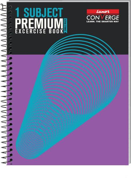 LUXOR Exercise Notebook-Spiral B5 Notebook Ruled 180 Pages