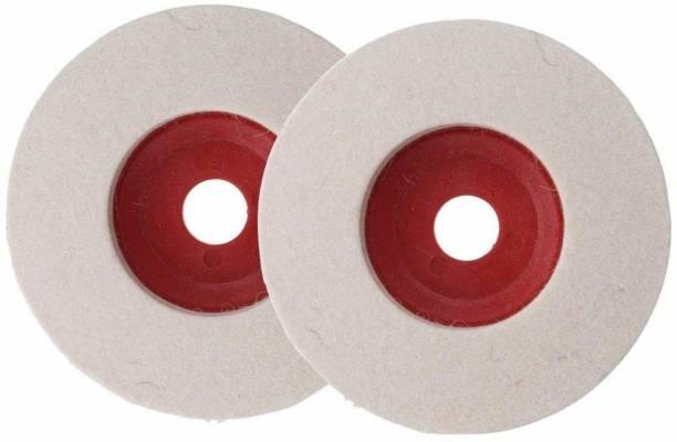 EXCEL IMPEX Polishing Pad Wool Polishing Wheel Buffing Pad for polishing stainless steel, metal, marble, glass ceramic, 4 Inch (Set of 2) Metal Polisher