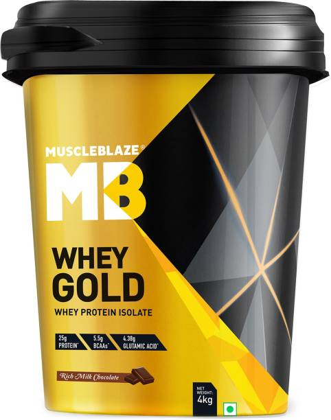 MUSCLEBLAZE Whey Gold 100% Isolate Whey Protein