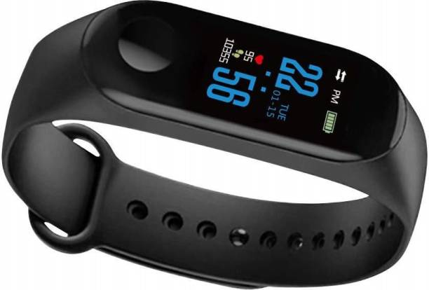 Fangtooth M3 Black Sweatproof Smart Band with Heart Rate Sensor|Pedometer Fitness Band