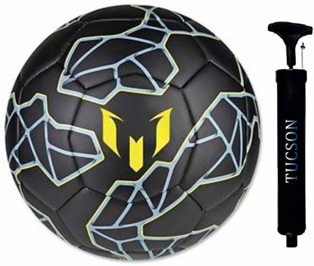 Tucson COMBO MESSI BLACK FOOTBALL WITH AIR PUMP SIZE 5 Football Kit