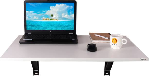 Captiver Wall Mounted Elara Study Office Laptop Table White Colour (80X53X30) CM Engineered Wood Study Table