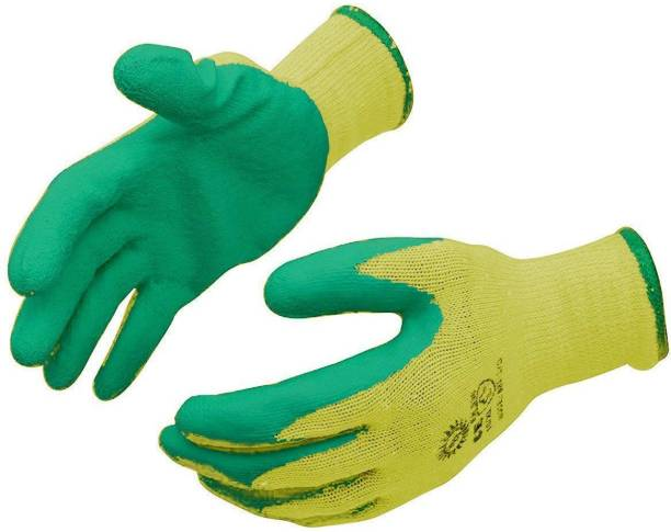 Yiking Cotton Safety Cut Resistant Hand Gloves Latex  Safety Gloves