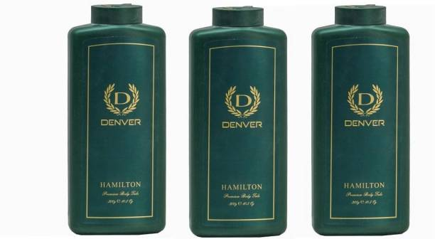 DENVER Hamilton Premium Body Talc Combo (Pack of 3)