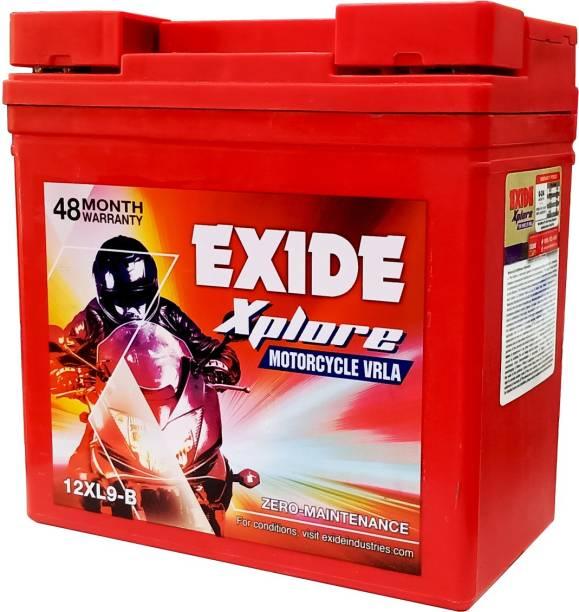 EXIDE Xplore 12XL9-B Motorcycle VRLA 12V, 9 Ah Battery for Bike