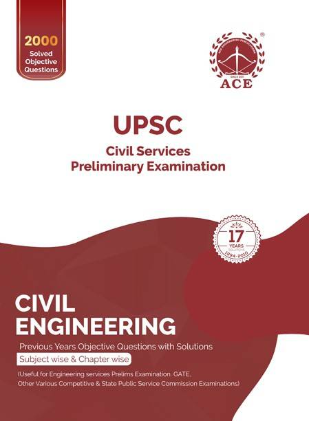 UPSC Civil Services Preliminary Examination Civil Engineering Previous Years Objective Questions with Solutions Subject wise & Chapter wise