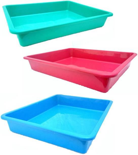 little monkey Rectangular Shape Multipurpose Organizer Plastic Tray Plastic Fruit & Vegetable Basket