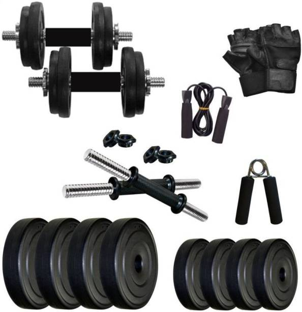 Star X 20 kg PVC 20 Kg weight iwth rods and accessories Home Gym Combo
