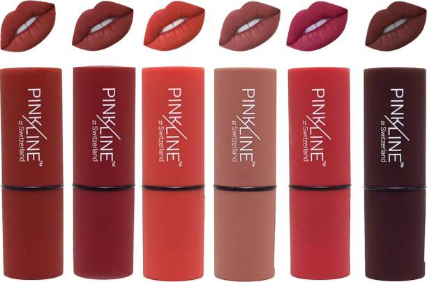 Pinkline Smooth Lipstick ( Pack of 6 )