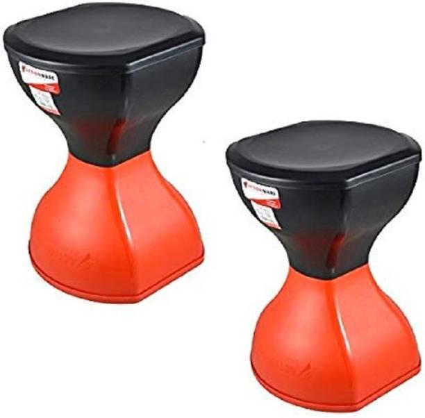 AK HUB New stylish Pinakin Stool ( 2 Pcs Per 1 Set ) (RED) Living & Bedroom Stool Living & Bedroom Stool