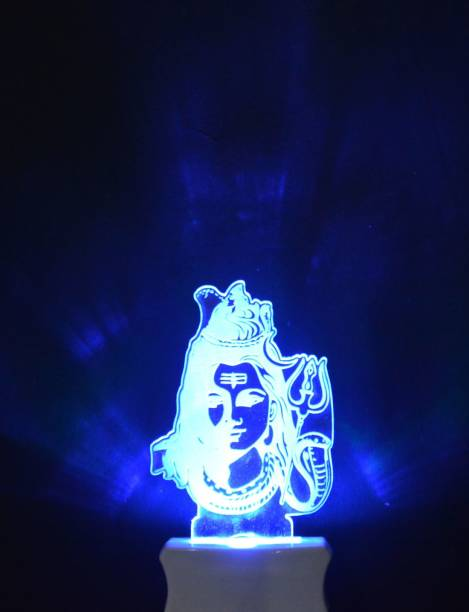 Gojeeva The Lord Shiv 3D illusion Night Lamp is Extremely cool and 3D illusion Design Night