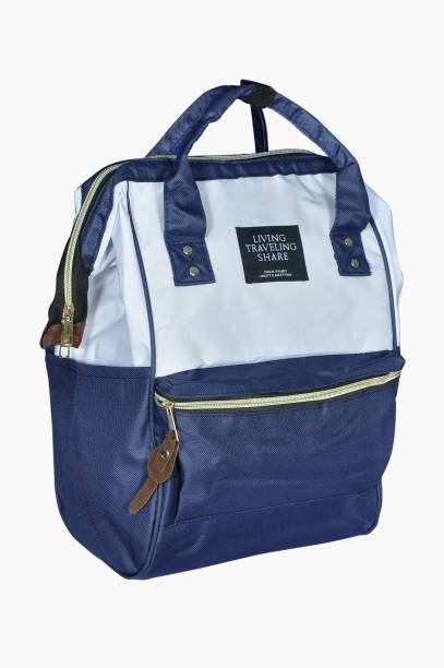 c4afc28eff Miss & Chief Stylish Maternity cum Travelling Backpack White+Blue Diaper Bag