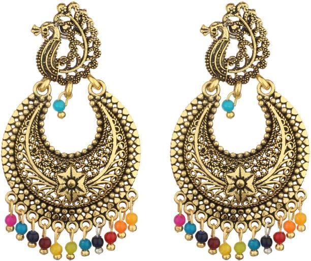 2b8e3229ccb3ae Styles Creation Stylish, Designer, Party Wear Peacock Jhumka Jhumki Earrings  ARTFLJWL208 Beads Alloy,