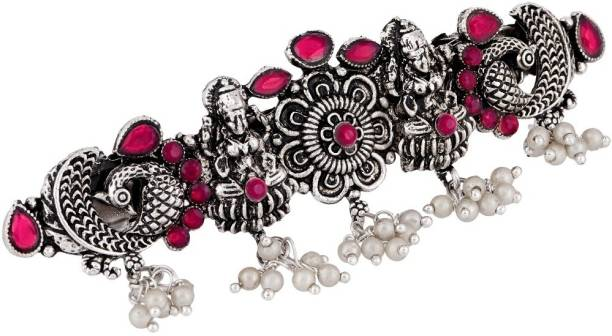 APARA Silver Plated Oxidised Traditional Hairclip Buckle Jewellery Hair Clip