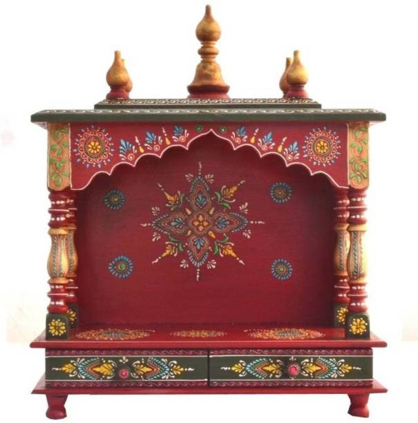 Marusthalee Rajasthani Home Temple Solid Wood Home Temple