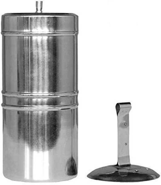 KM Stainless Steel South Indian Filter Coffee Drip Maker, 300ml 5 Cups Coffee Maker