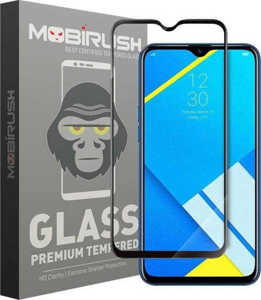 MOBIRUSH Edge To Edge Tempered Glass for Realme C2, Gionee Max, OPPO A1K