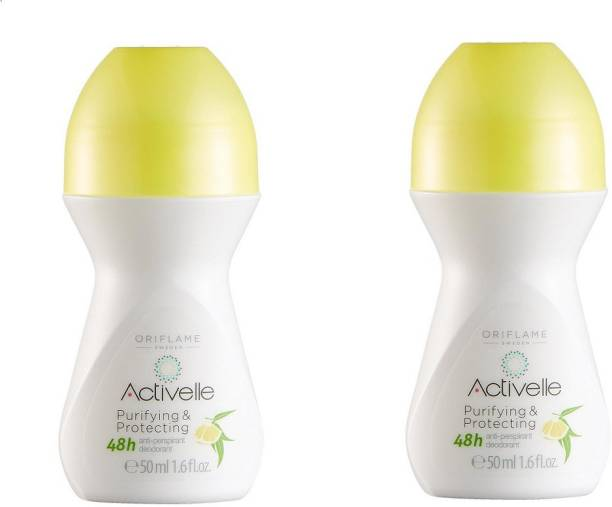 Oriflame Purifying & Protecting Anti-perspirant 48h (Set of 2) Deodorant Roll-on  -  For Men & Women